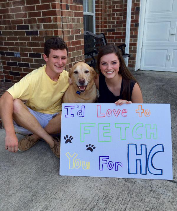 Proposal Ideas Using Pets: Homecoming Proposals