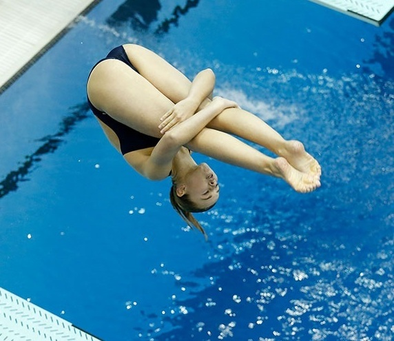 COLUMBUS, OH - AUGUST 8:  Hailey Hernandez of GC Diving competes during the Senior Women's 1m Springboard Final during the 2017 USA Diving Summer National Championships on August 8, 2017 in Columbus, Ohio. (Photo by Kirk Irwin/Getty Images)