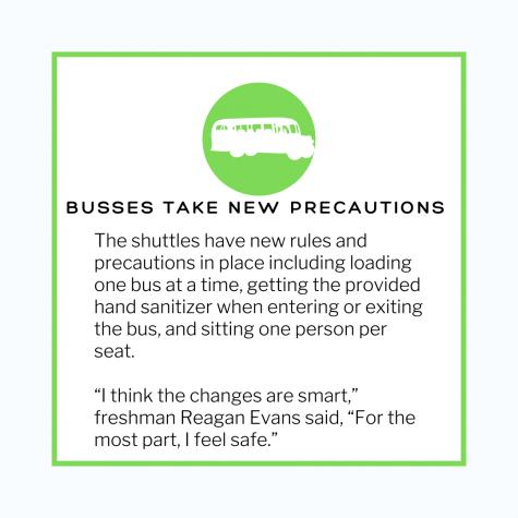 Shuttle Busses Take COVID Precautions